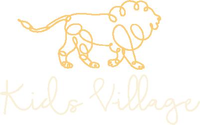 Kids Village Trans Yellow (yellow kids village logo outline(