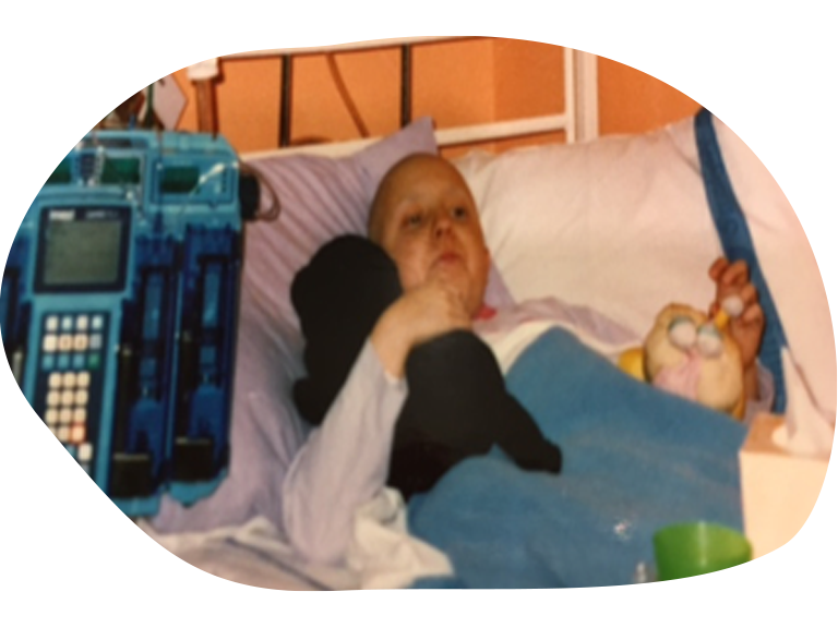 Sammie stories Kids Village (image of a girl in a hospital bed)