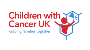 Children with Cancer UK Kids Village (children with cancer red and blue logo)